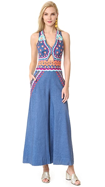 Temperley London Spellbound Denim Jumpsuit