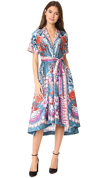 Temperley London Pipe Dream Dress - Peacock Mix