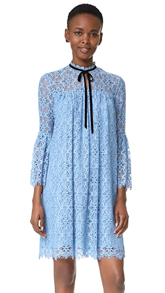 Temperley London Eclipse Lace Mini Dress - Iris