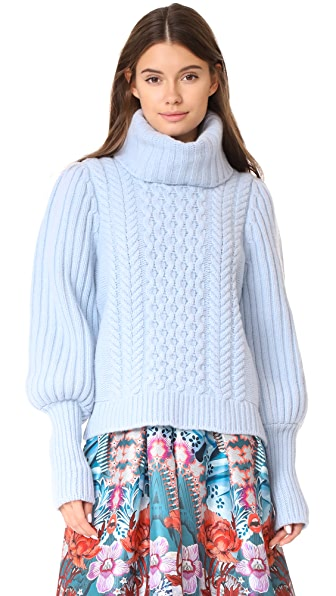 Temperley London Shade Knit Sweater - Periwinkle