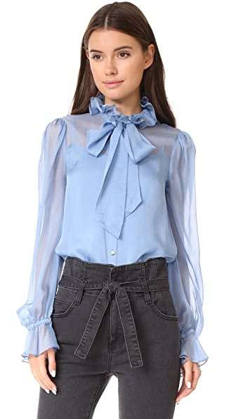 Temperley London Costume Silk Shirt - Iris