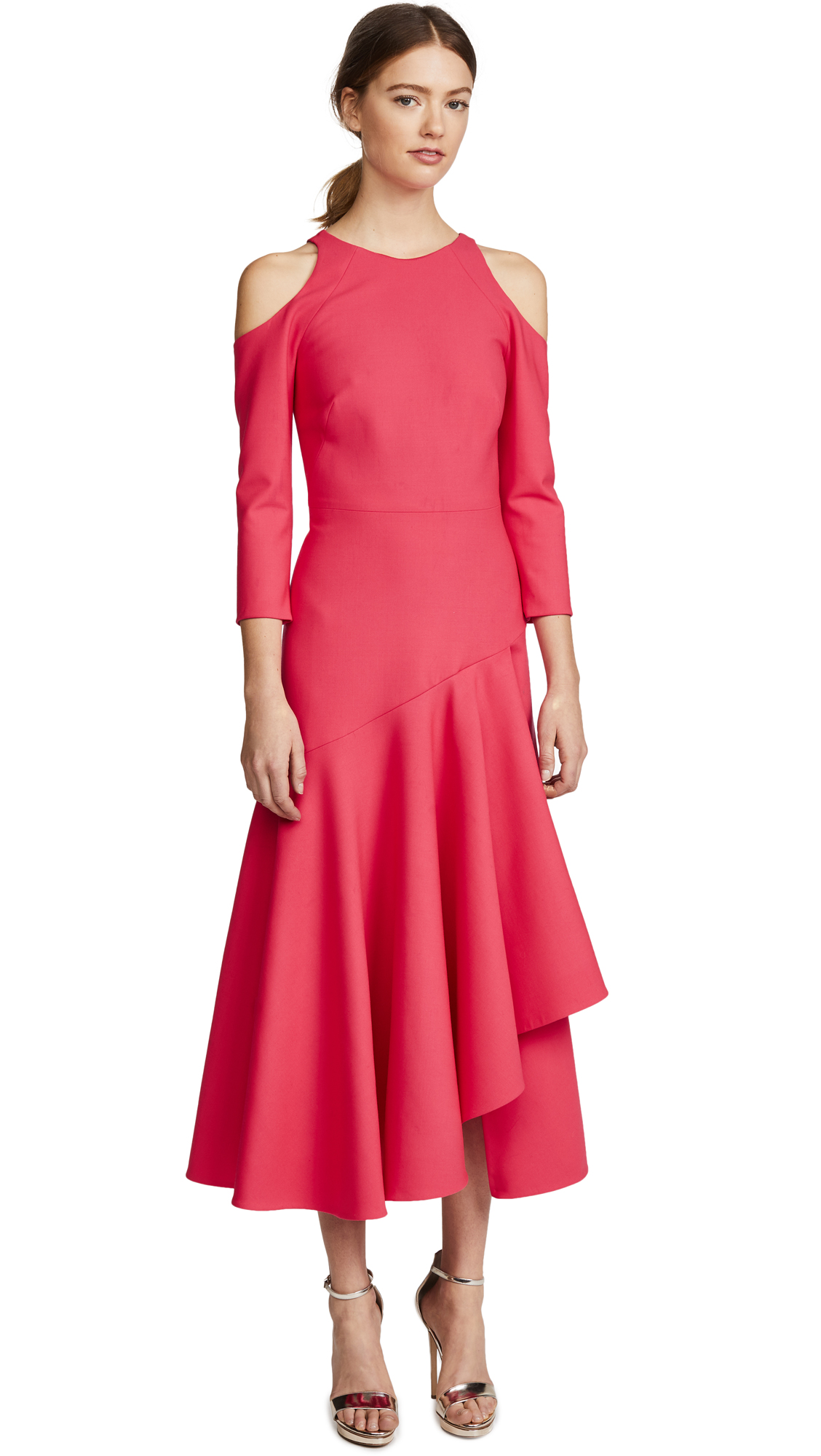 Temperley London Mercury Plain Ruffle Dress