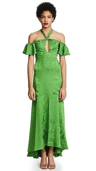 Temperley London Orbit Dress In Absinthe