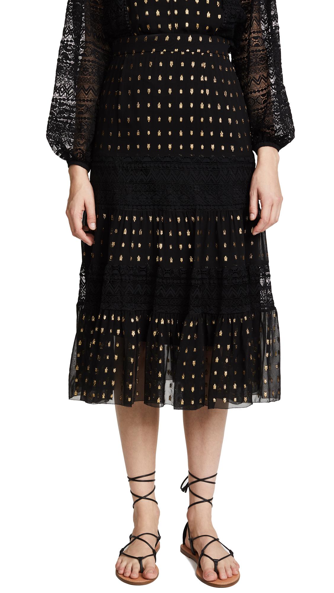 Temperley London Wondering Lace Skirt - Black Mix