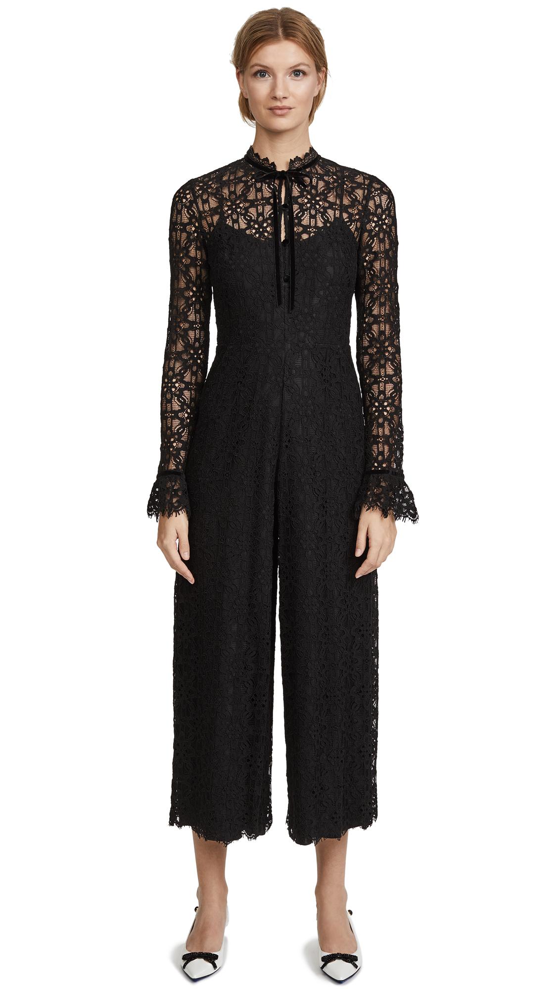 Temperley London Eclipse Lace Jumpsuit - Black
