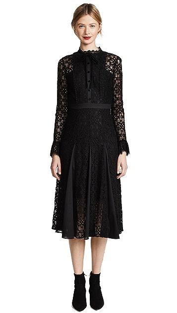 Temperley London Eclipse Lace Collar Dress
