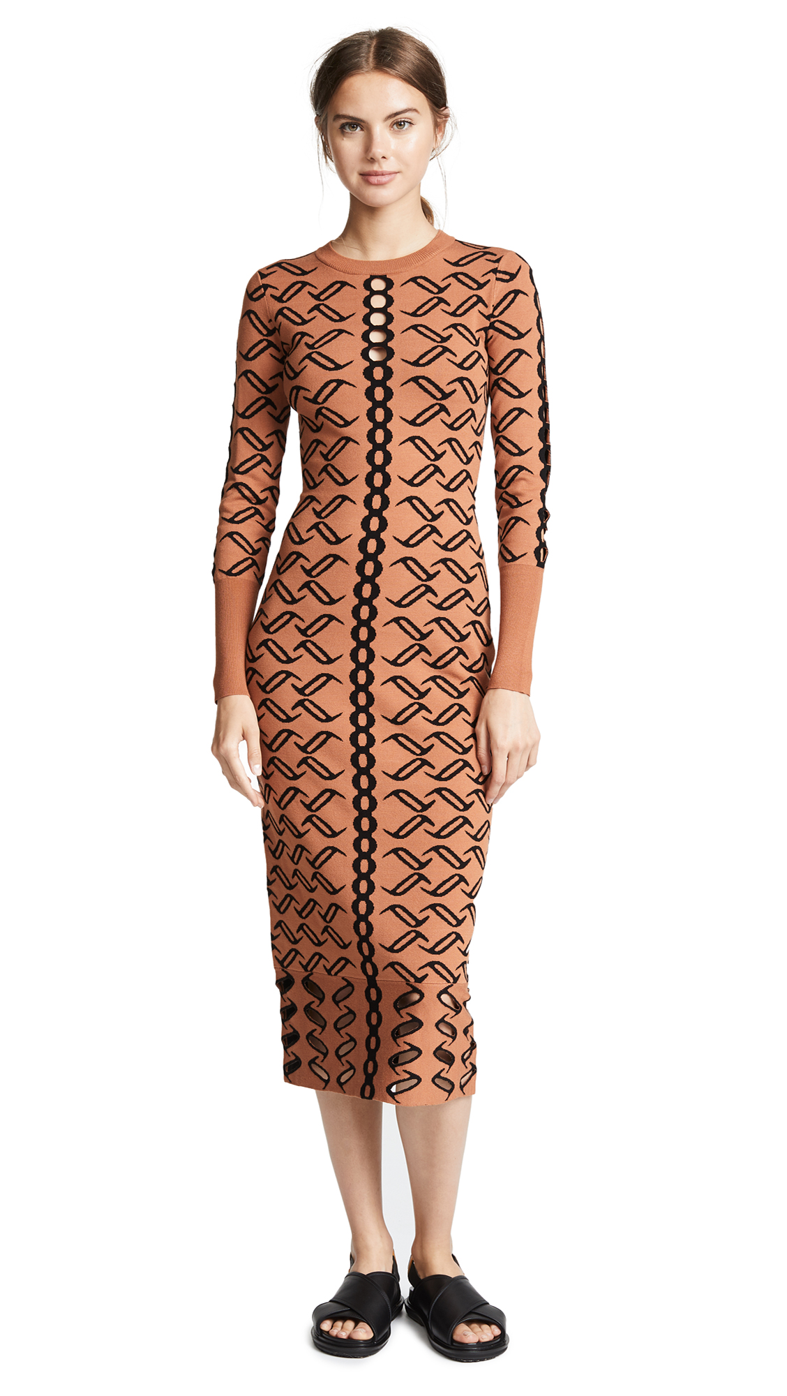 Temperley London Desert Dress In Clay Mix