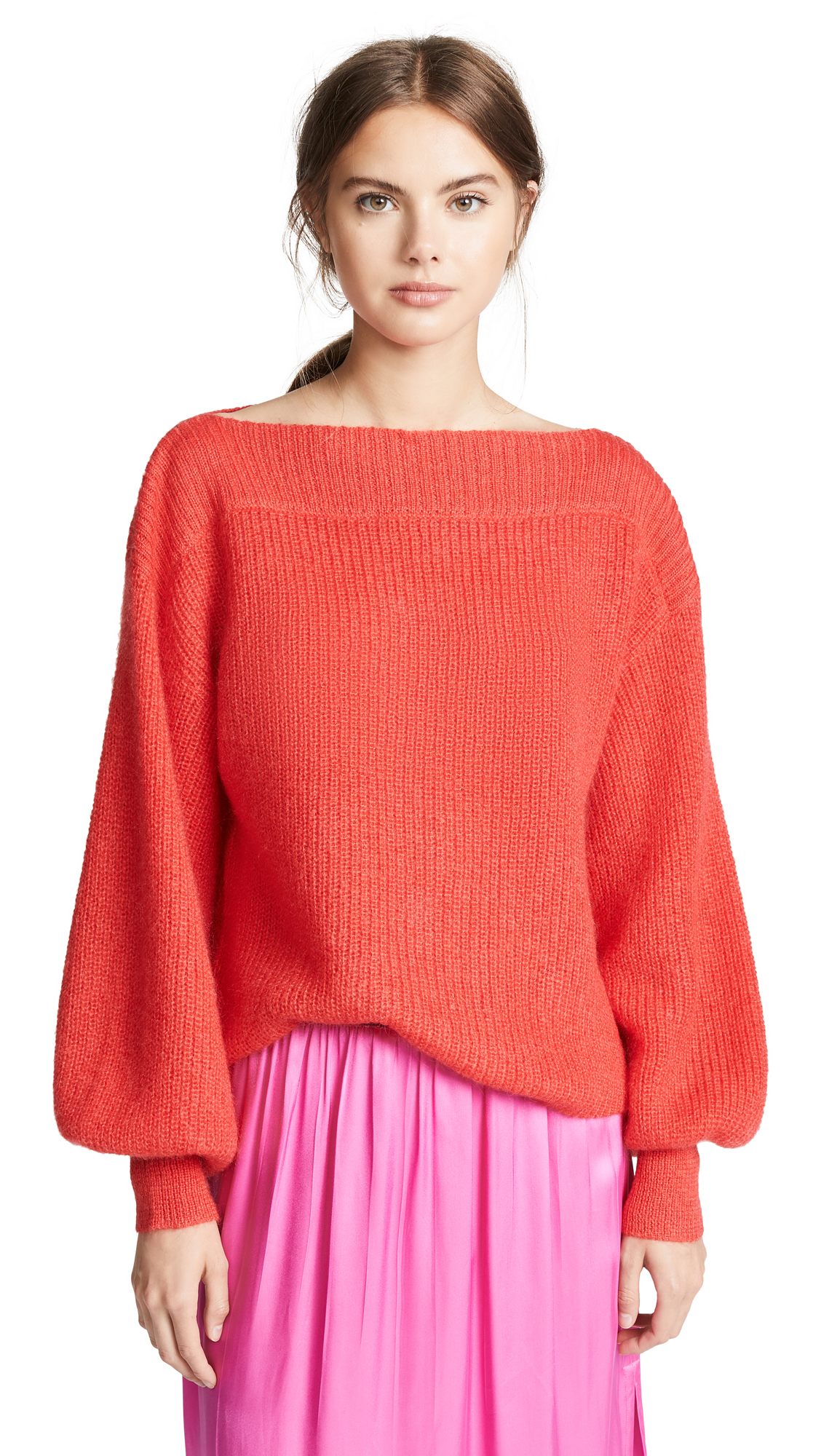 Temperley London Bessie Sweater In Scarlet