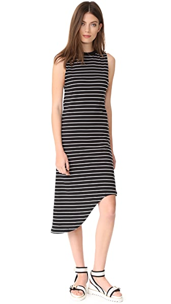 The Fifth Label Nothing To Chance Dress - Black/White Stripe