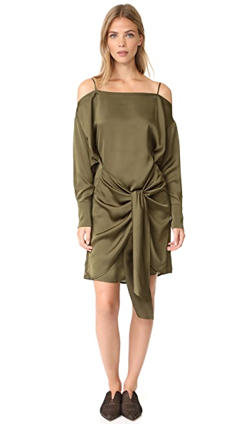 The Fifth Label Changing Course Long Sleeve Dress - Deep Khaki
