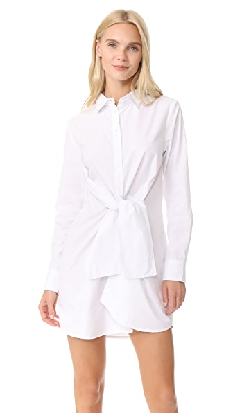 The Fifth Label Paper Planes Shirtdress In White