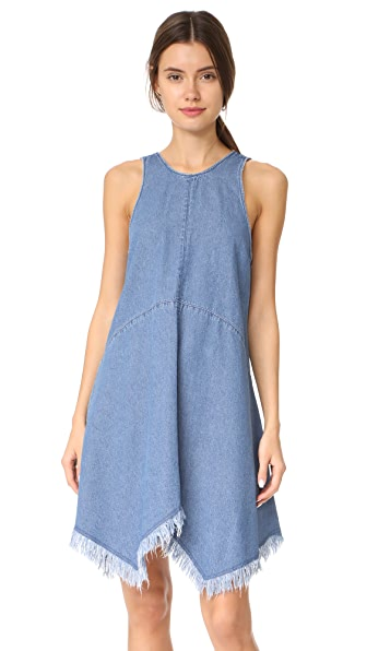The Fifth Label Deja Vu Dress In Washed Blue