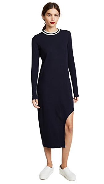 The Fifth Label Solo Long Sleeve Dress In Navy