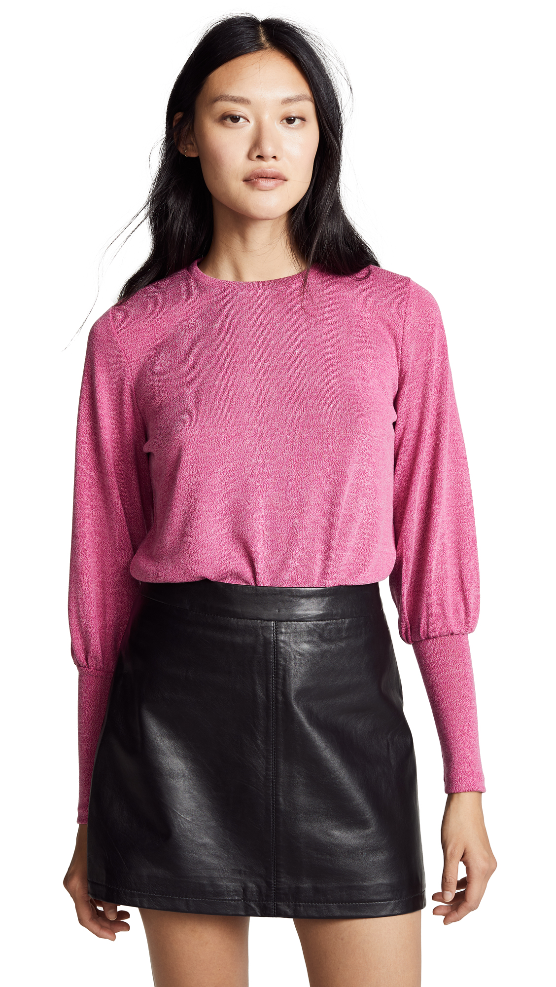 The Fifth Label Whistle Long Sleeve Top In Magenta