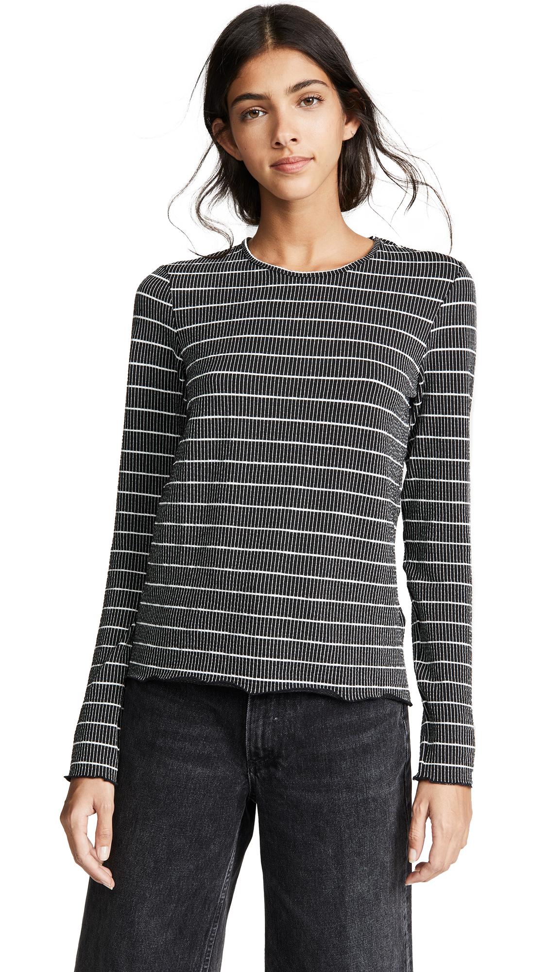 The Fifth Label Dearest Stripe Long Sleeve Tee In Black/White