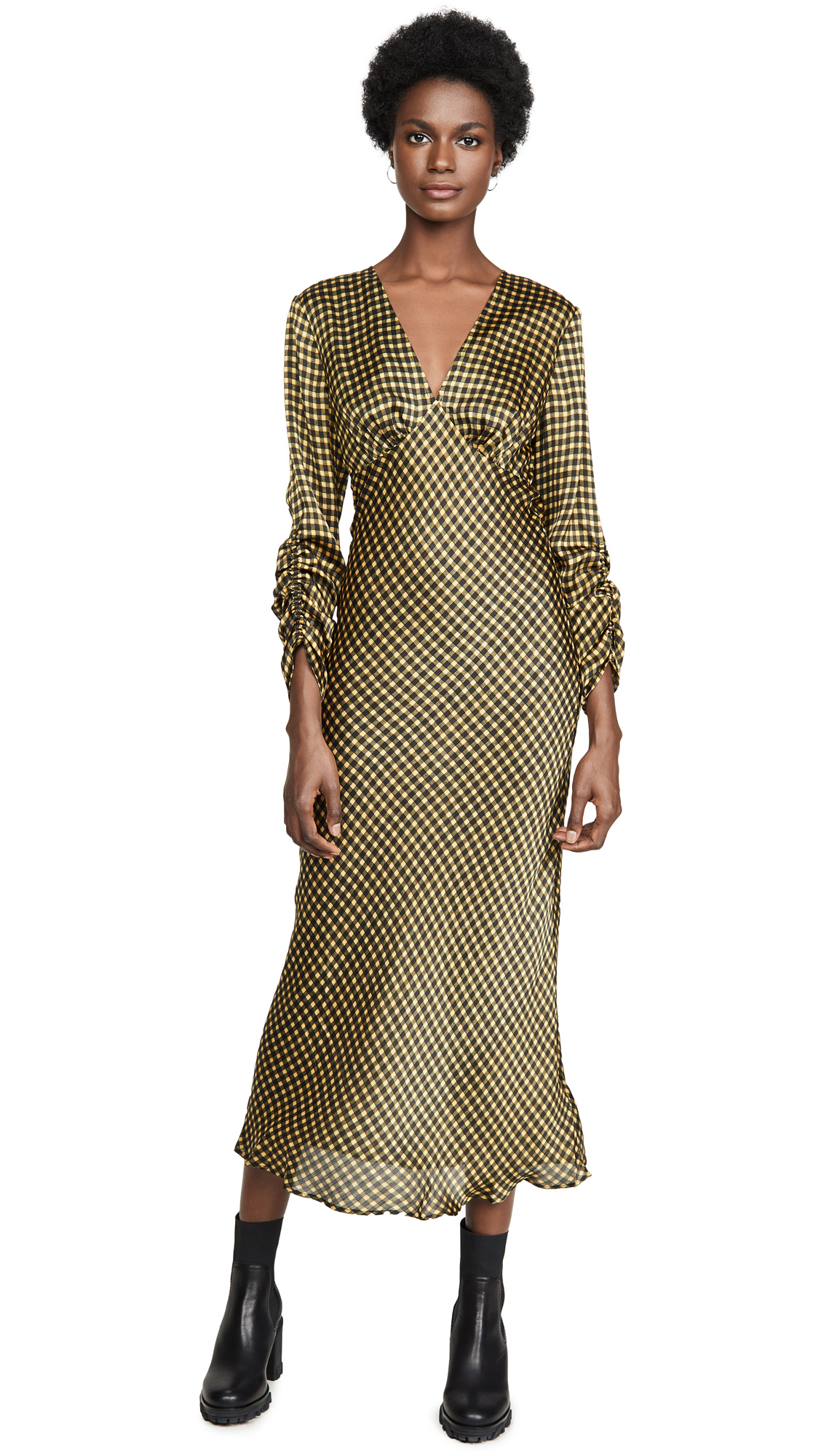 Buy The Fifth Label Goldie Check Long Sleeve Midi Dress online beautiful The Fifth Label Clothing, Dresses