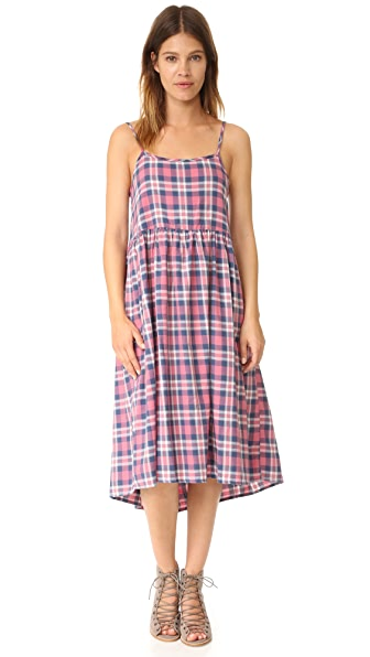 THE GREAT. The Tea Time Dress - Washed Cherry Plaid