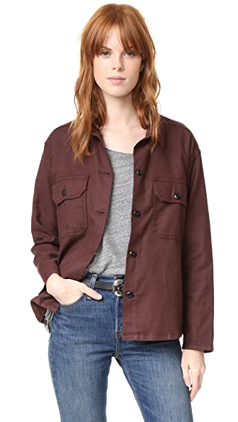 THE GREAT. Army Shirt Jacket