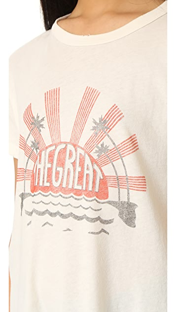 THE GREAT. The Palm Crew Tee