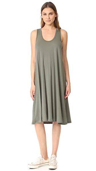 THE GREAT. The Swing Tank Dress - Army