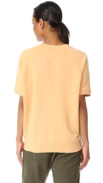THE GREAT. The Short Sleeve Sweatshirt