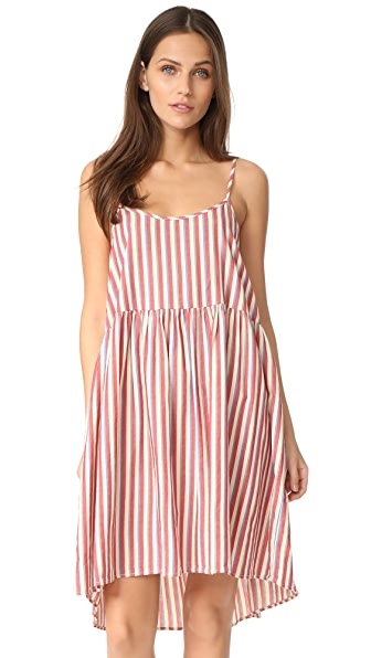 THE GREAT. The Terrace Dress - Red & White Stripe