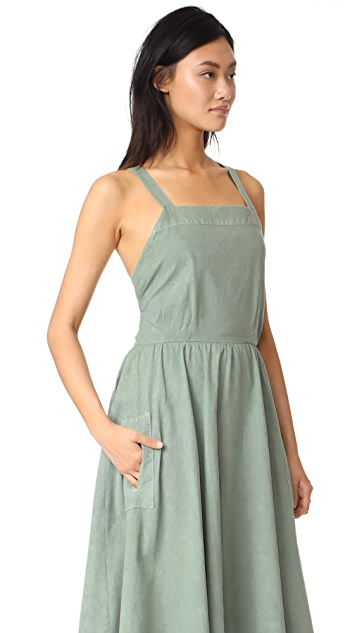 THE GREAT. Apron Dress