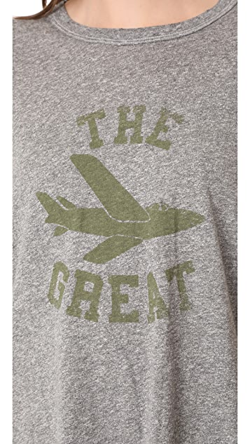 THE GREAT. Boxy Crew Tee