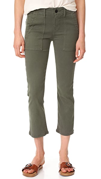 THE GREAT. The Army Nerd Pants - Black Olive