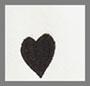 выцветший белый с черными сердечками