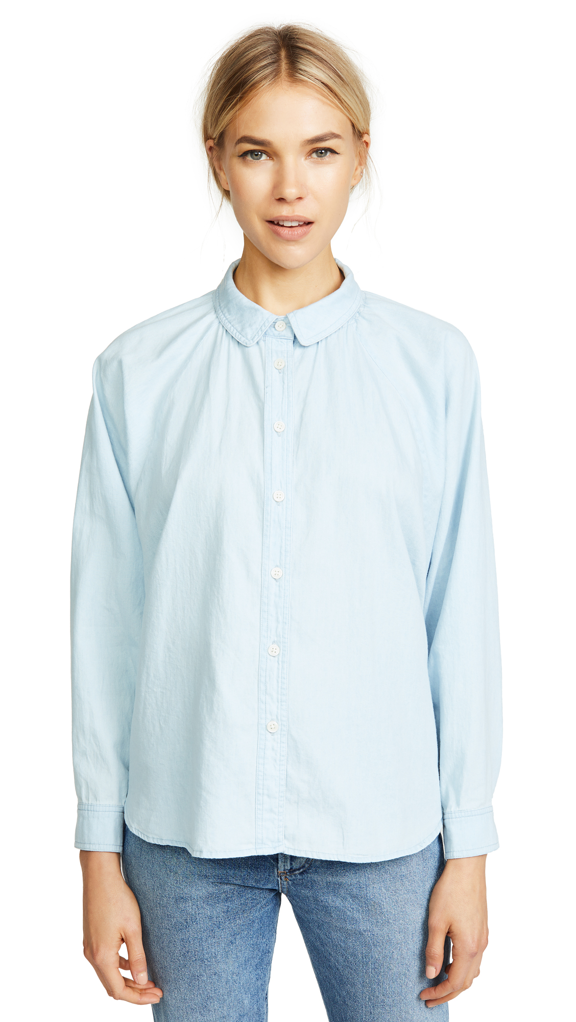 THE GREAT THE ESTATE BUTTON DOWN BLOUSE