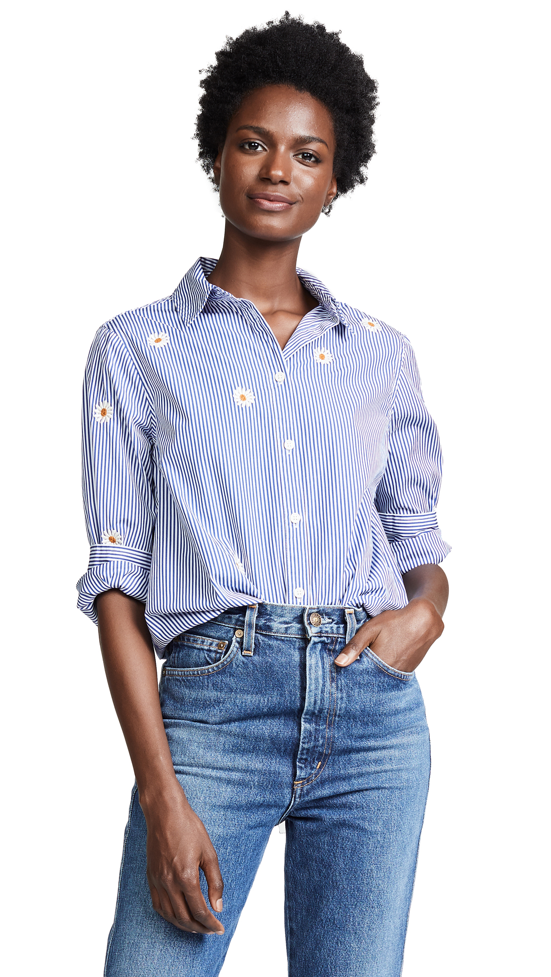 THE GREAT OVERSIZED SWING OXFORD TOP