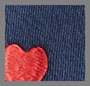 Navy/Red Hearts