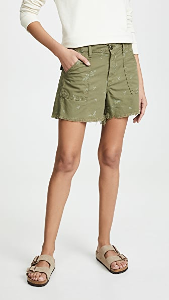 The Great Shorts FRAYED ARMY SHORTS