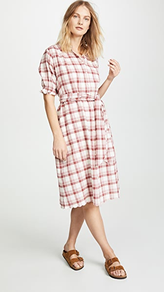 The Great Dresses THE SCALLOP KERCHIEF DRESS