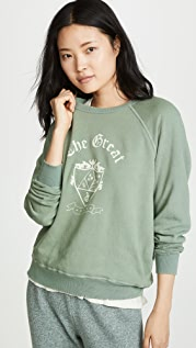 THE GREAT. College Sweatshirt with Crest
