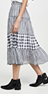 THE GREAT. The Button Up Tier Skirt