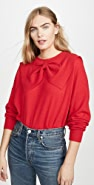 THE GREAT. The Cashmere Bow Sweater