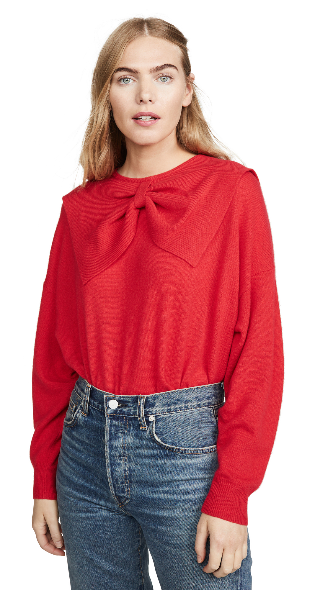 Buy THE GREAT. online - photo of THE GREAT. The Cashmere Bow Sweater