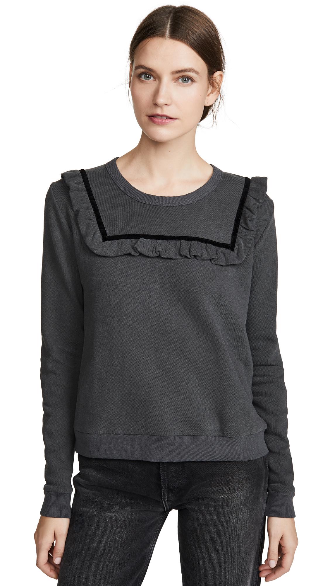 Buy THE GREAT. online - photo of THE GREAT. The Velvet Bib Sweatshirt