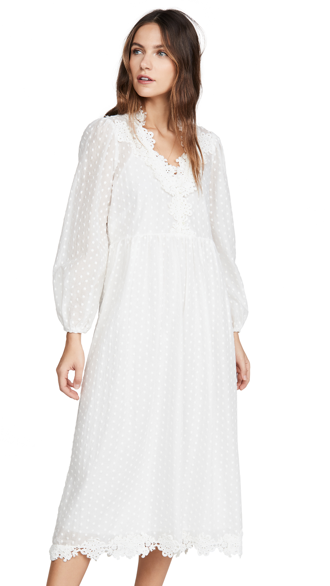 Buy THE GREAT. The Lace Prim Dress online beautiful THE GREAT. Clothing, Dresses