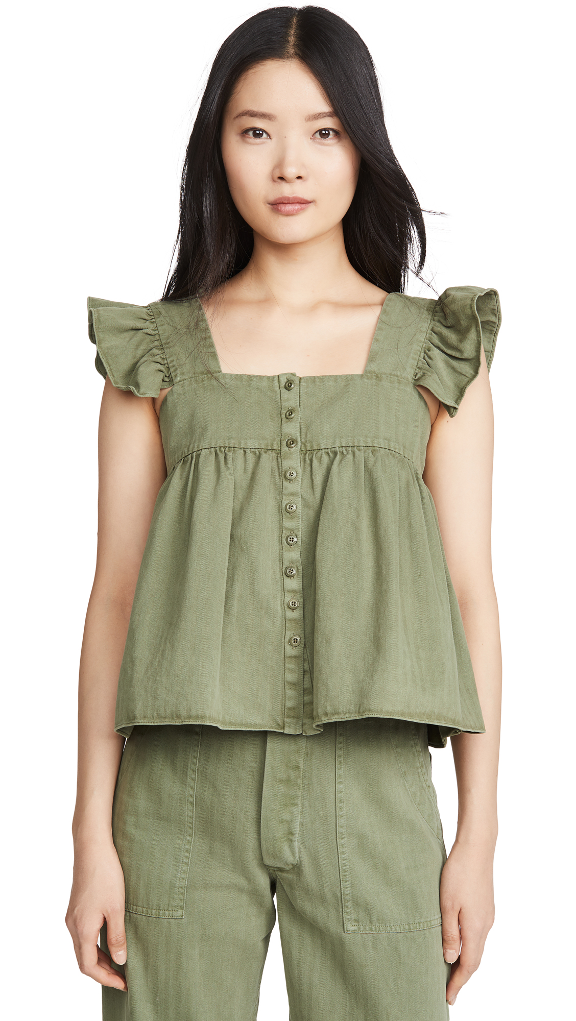 THE GREAT. The Herringbone Acre Top - 30% Off Sale