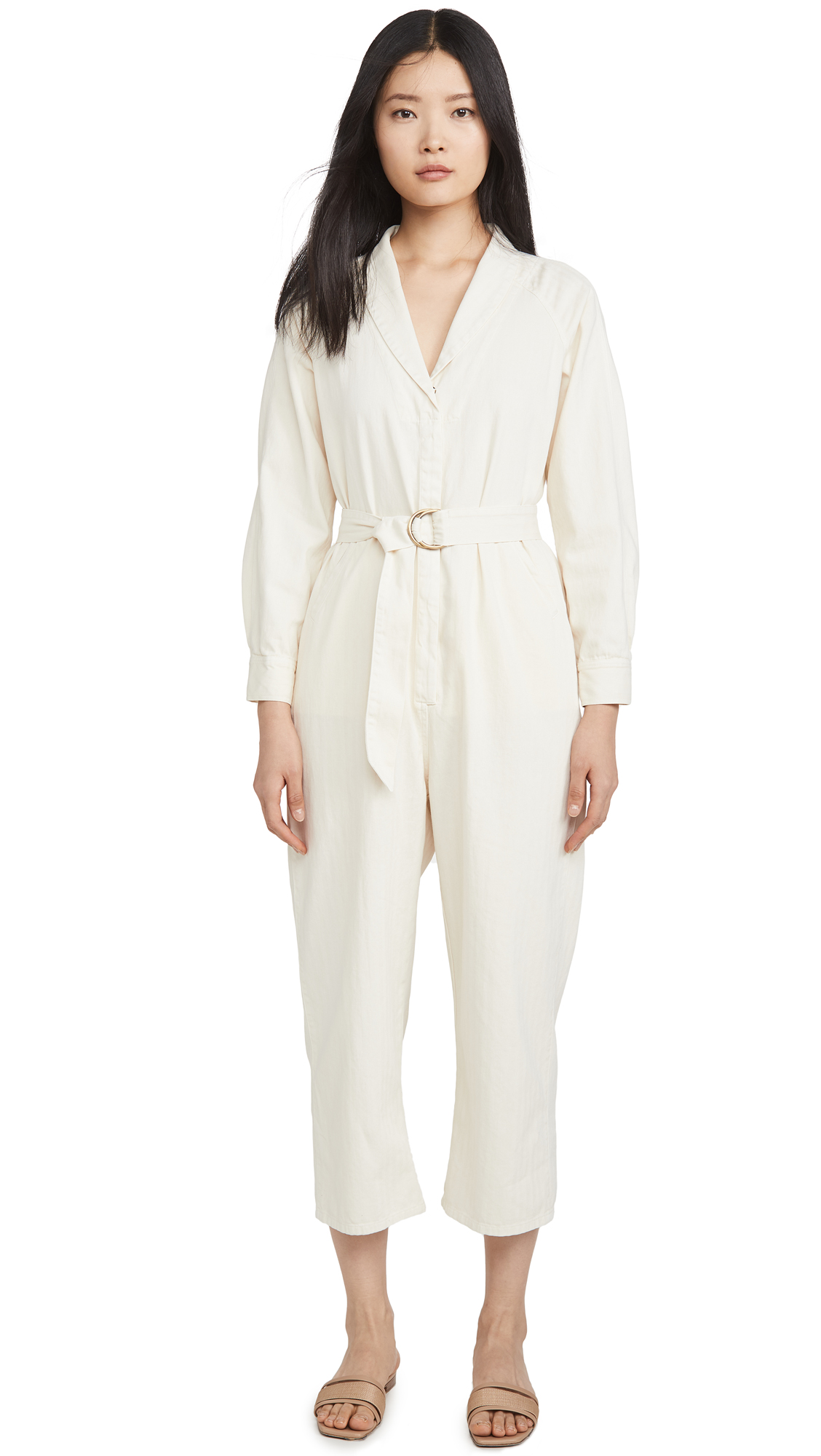 Buy THE GREAT. online - photo of THE GREAT. The Herringbone Round Top Jumpsuit