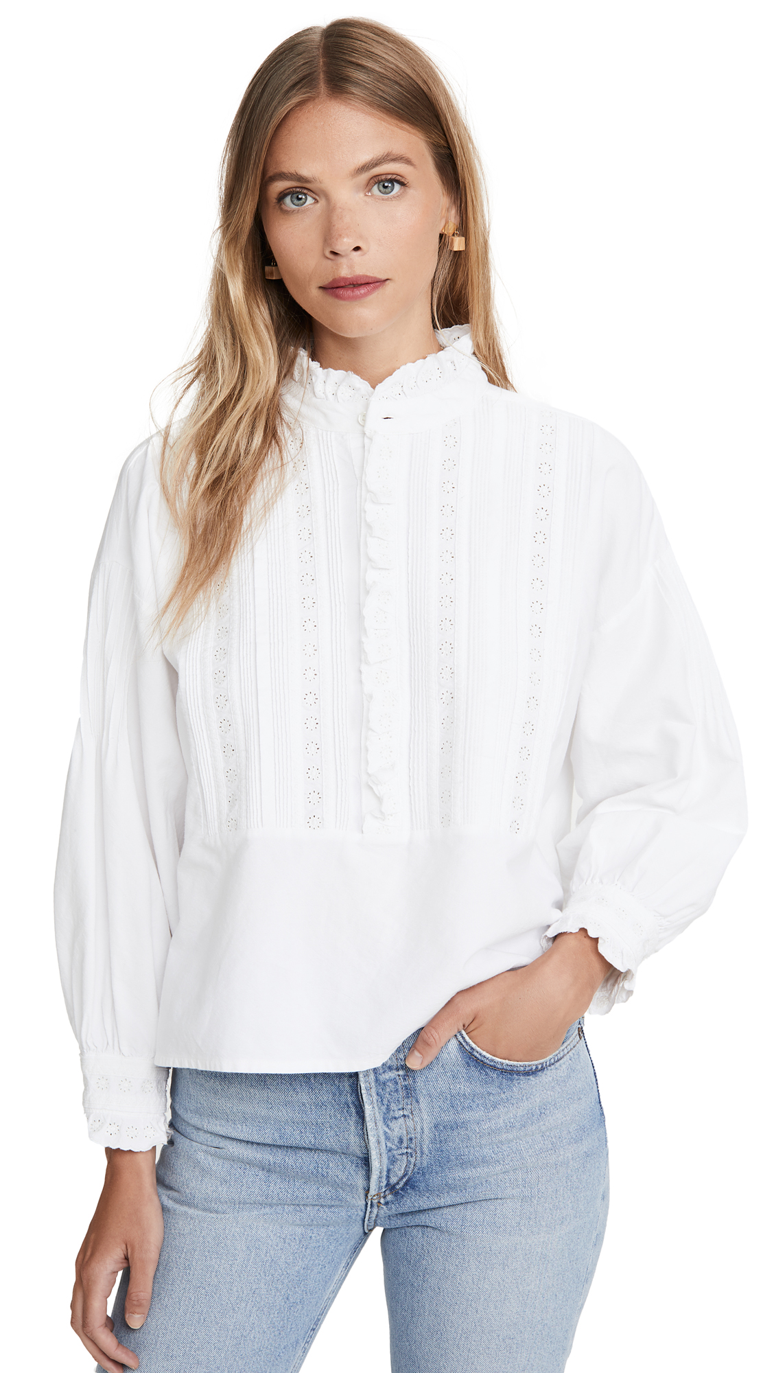 THE GREAT. The Victorian Tuxedo Top - 30% Off Sale