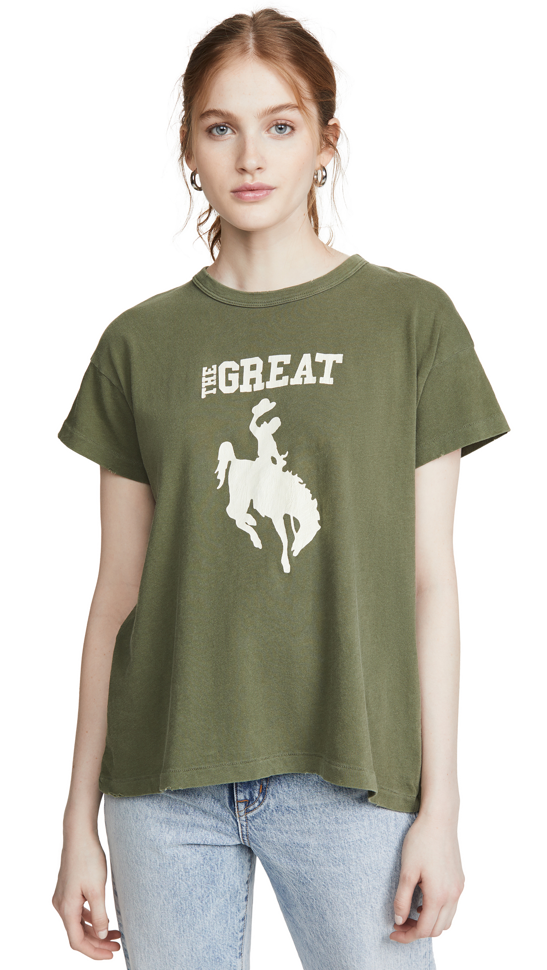 Buy THE GREAT. online - photo of THE GREAT. Boxy Cowgirl Tee