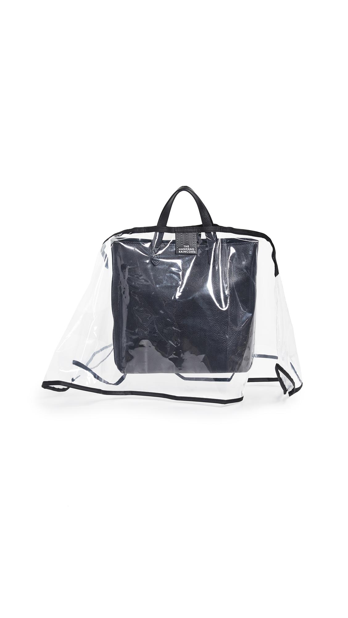 The Handbag Raincoat Medium City Slicker Handbag Raincoat - Clear/Black