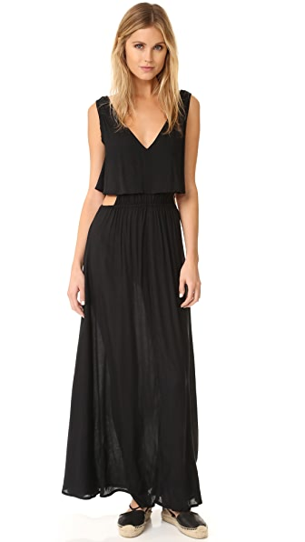 TIARE HAWAII Desert Island Maxi Dress In Black