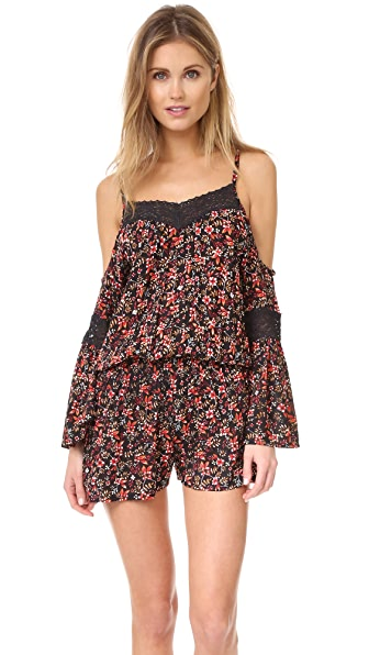 TIARE HAWAII Zella Cold Shoulder Romper