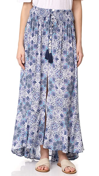 TIARE HAWAII Dakota Maxi Skirt - Bohemian Purple/Teal