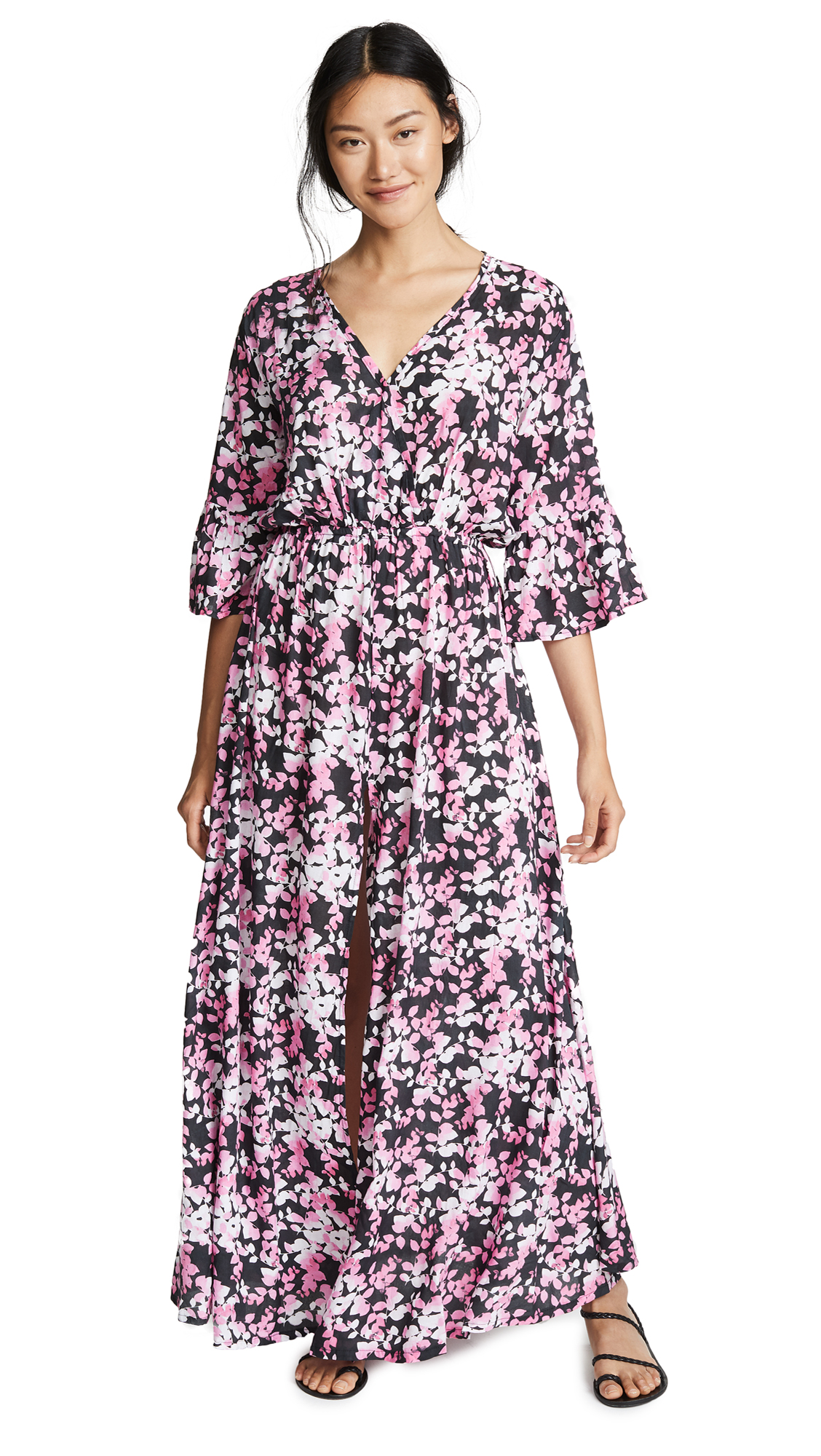 TIARE HAWAII Surry Maxi Dress in Shimmer Black/Pink